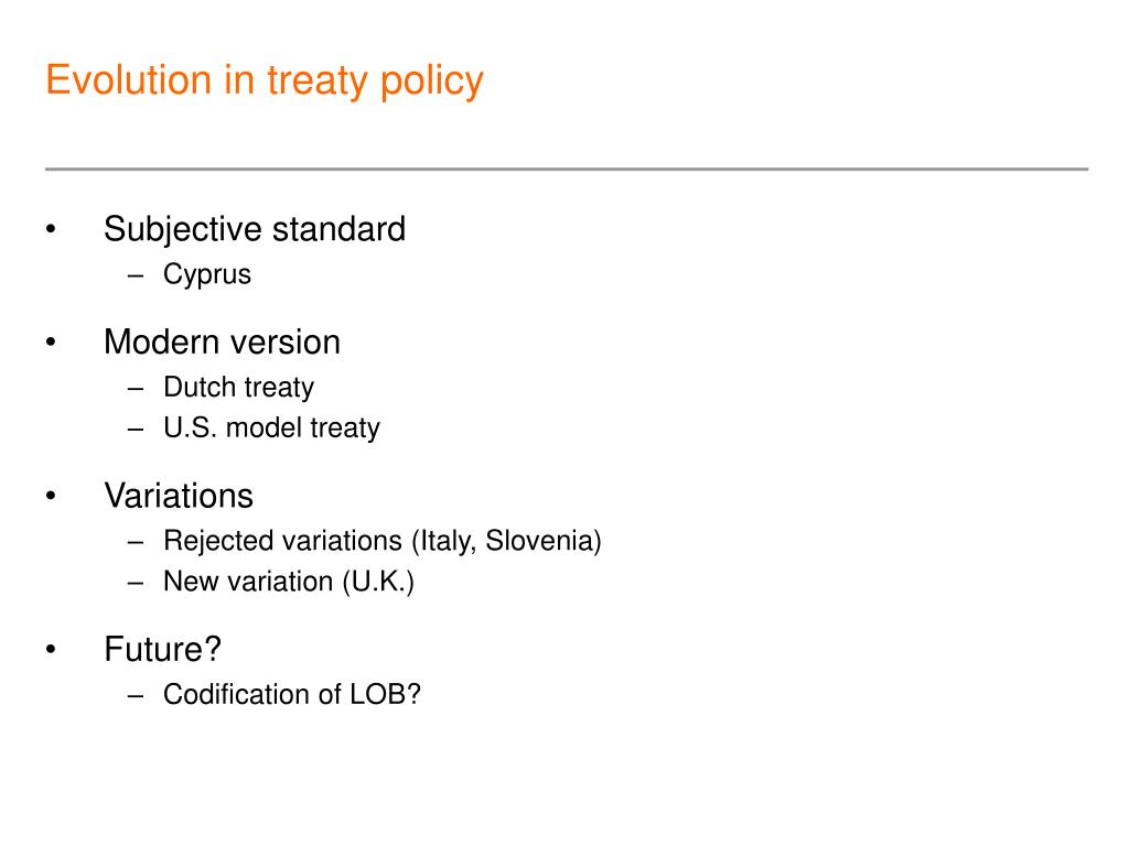 Evolution in treaty policy