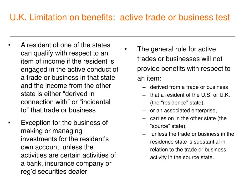 "A resident of one of the states can qualify with respect to an item of income if the resident is engaged in the active conduct of a trade or business in that state and the income from the other state is either ""derived in connection with"" or ""incidental to"" that trade or business"