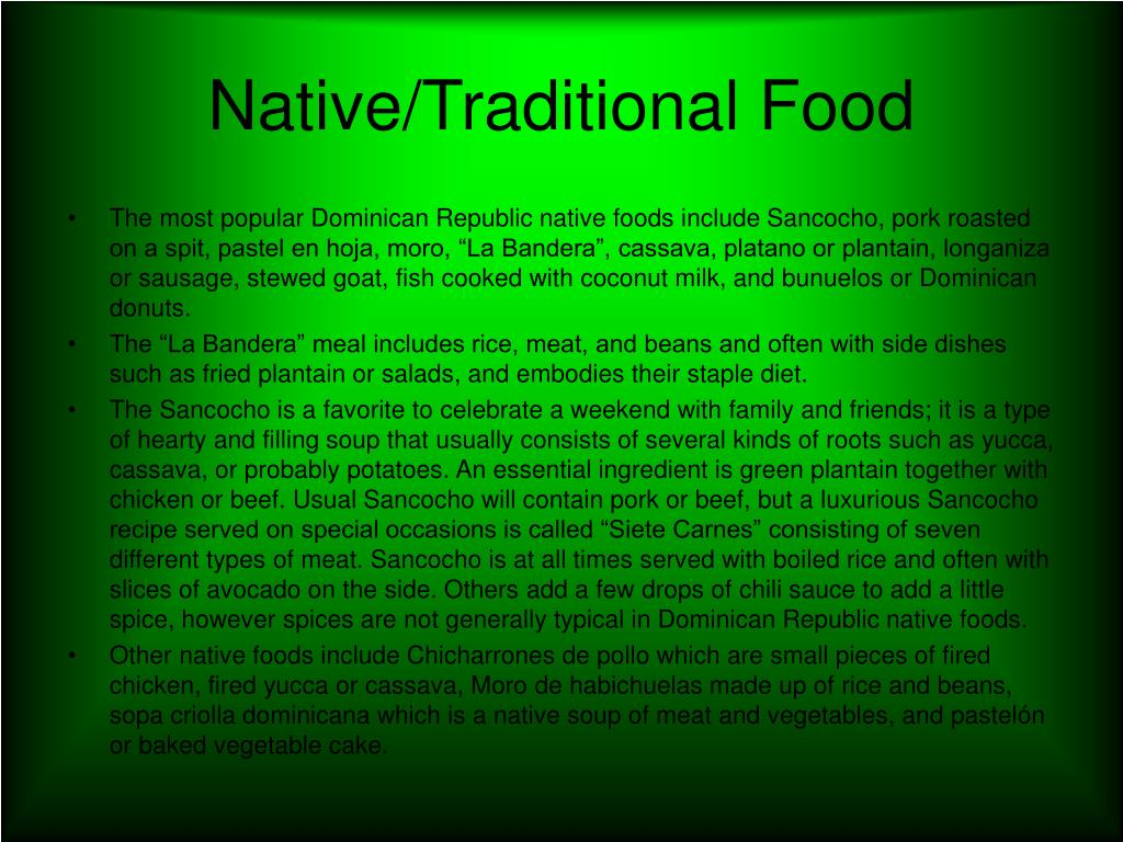 Native/Traditional Food