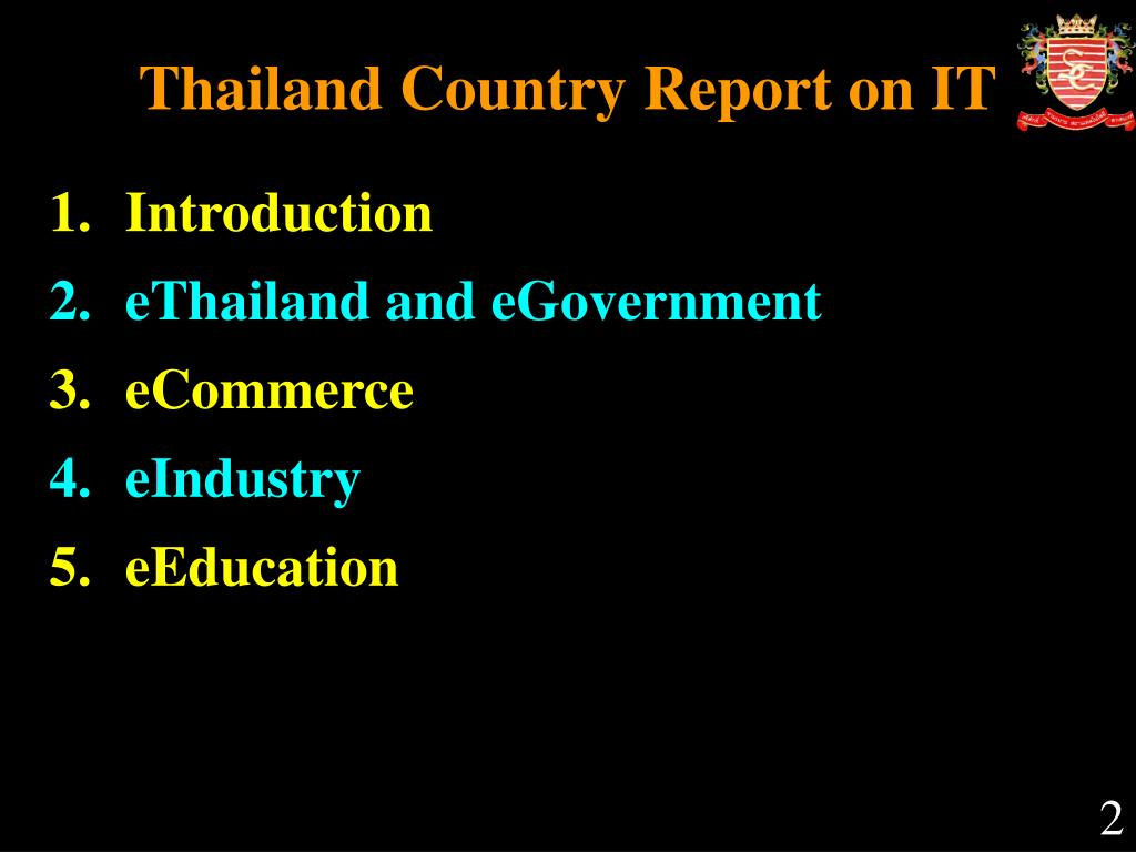 Thailand Country Report on IT