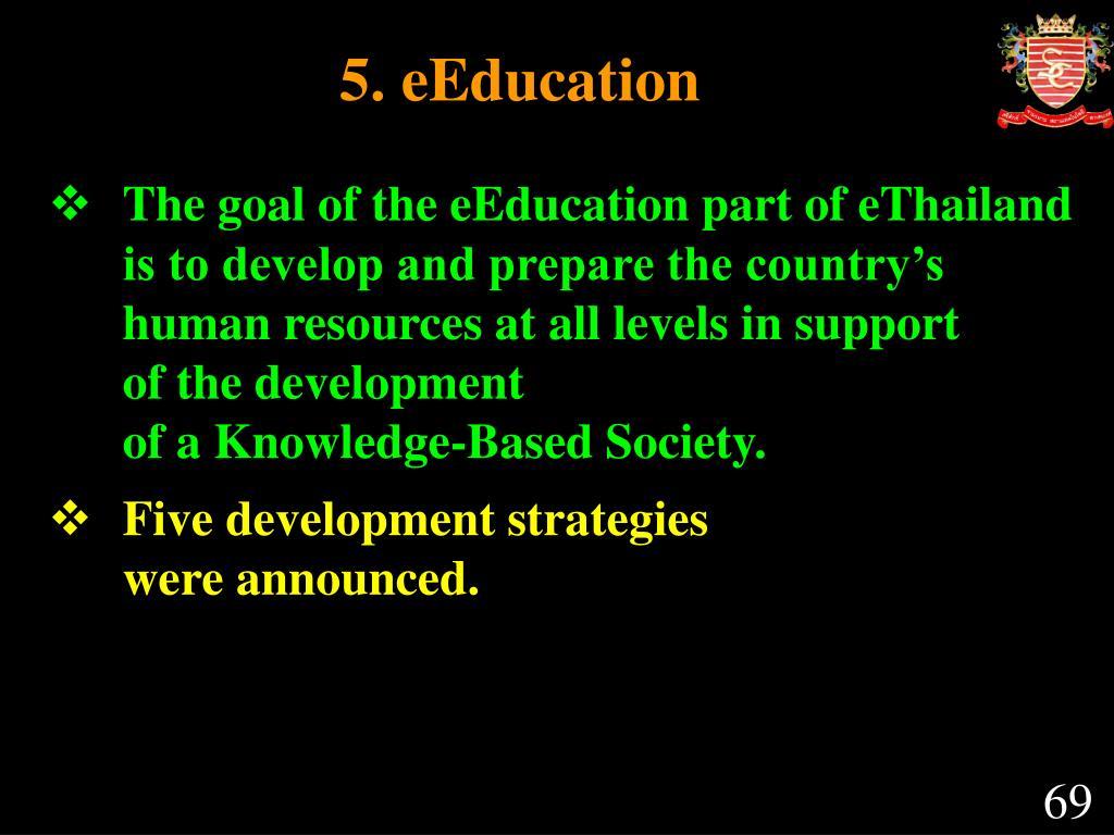 5. eEducation