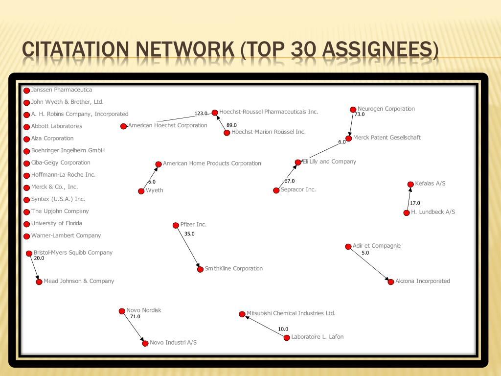 Citatation Network (Top 30 Assignees)