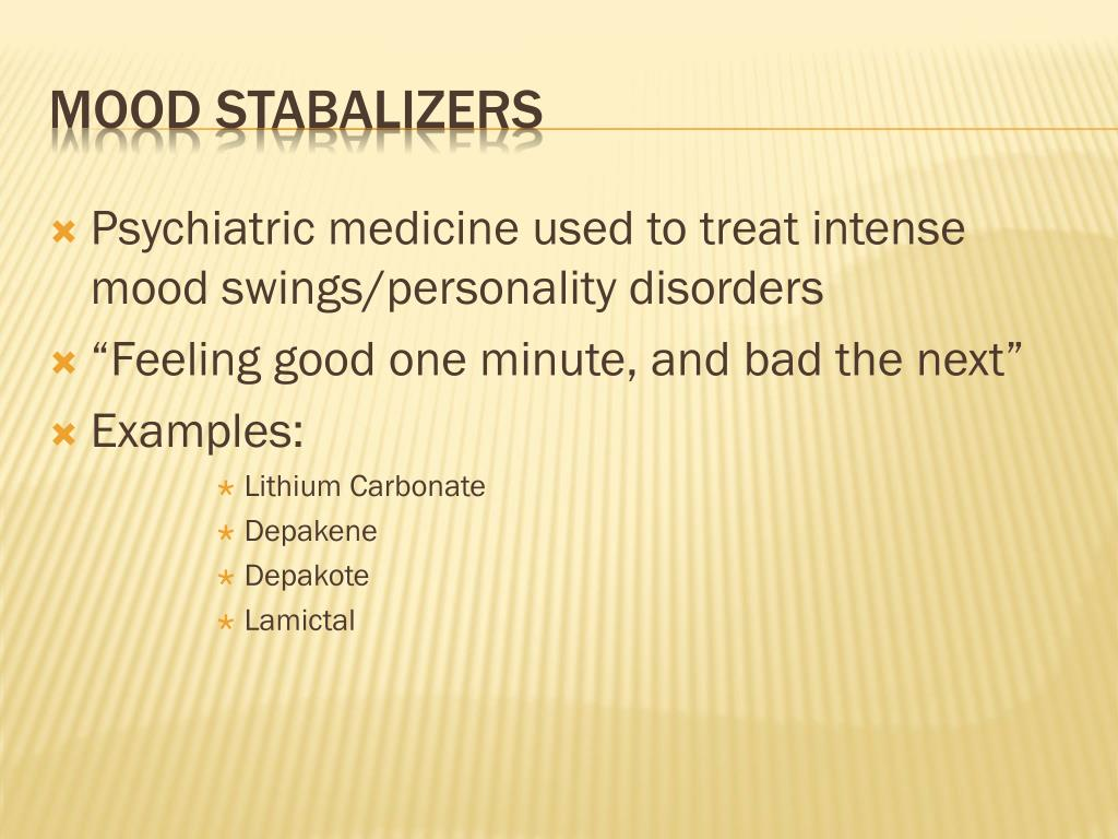 Psychiatric medicine used to treat intense mood swings/personality disorders