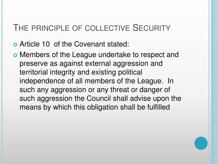 failure of collective security Threats to collective and human security into six baskets they were interstate war intrastate state failure and organized crime as the principal threats of our time collective security and the united nations fes briefing paper september 2004 page the the • •.