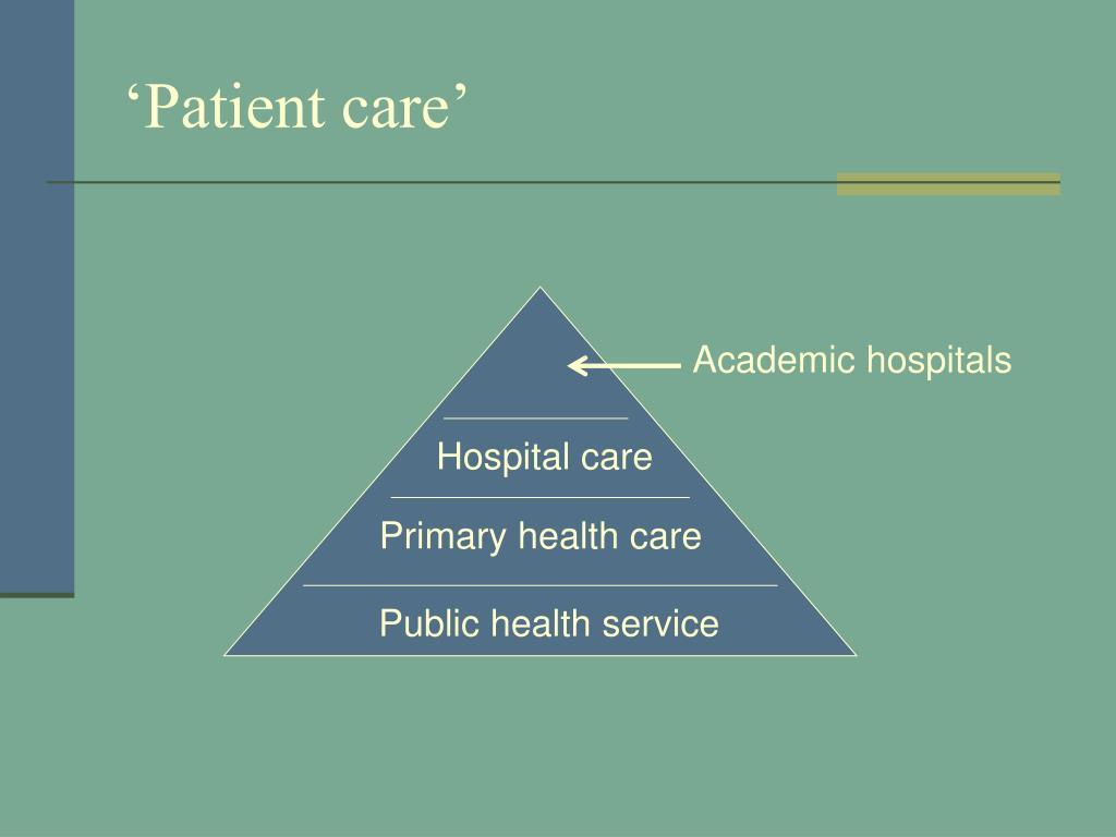 'Patient care'