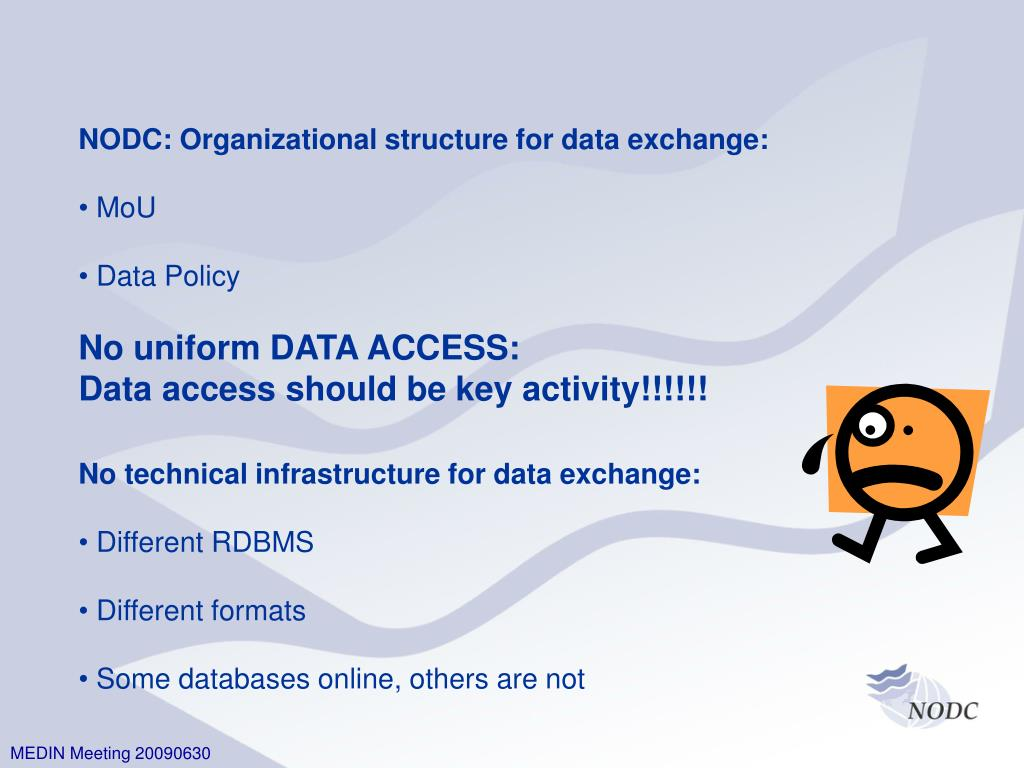 NODC: Organizational structure for data exchange:
