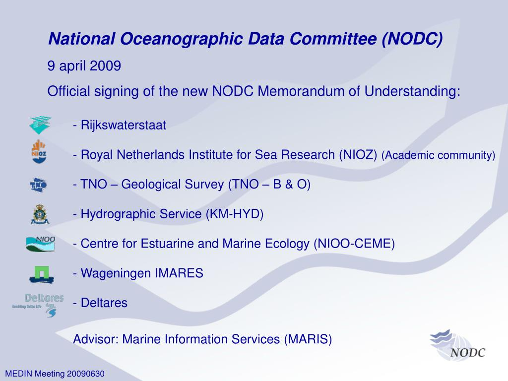 National Oceanographic Data Committee (NODC)