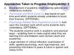 approaches taken to progress employability 2