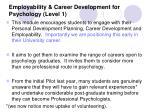 employability career development for psychology level 1