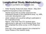 longitudinal study methodology
