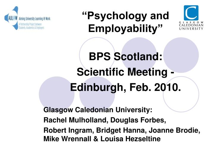 """Psychology and Employability"""