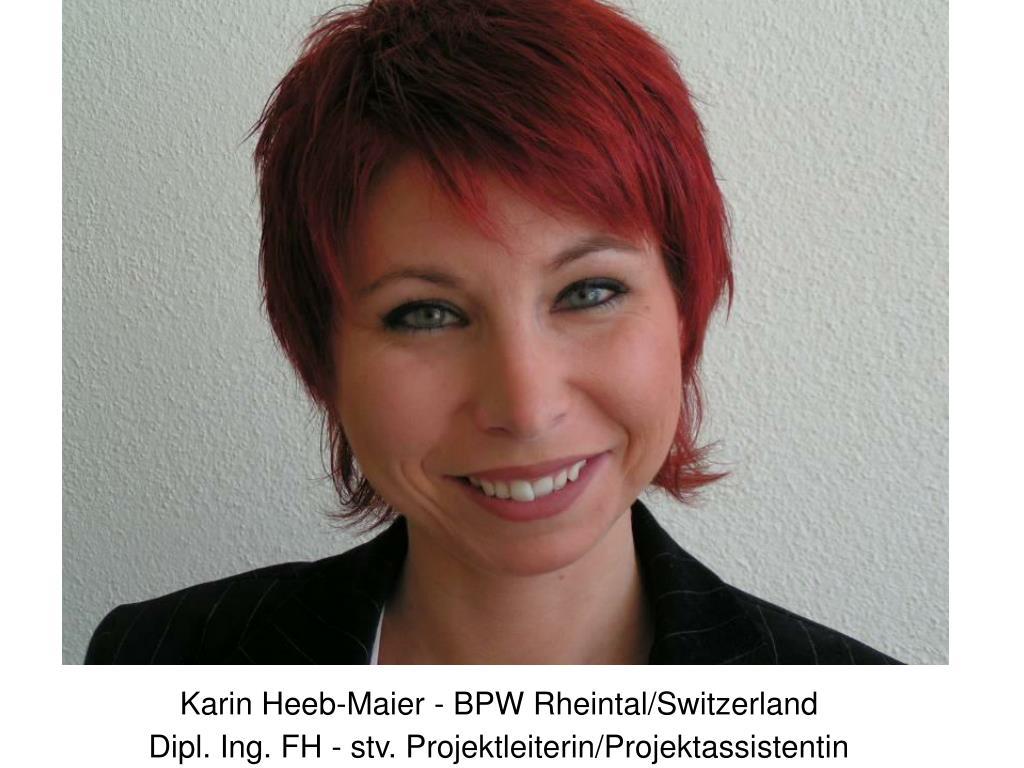 Karin Heeb-Maier - BPW Rheintal/Switzerland