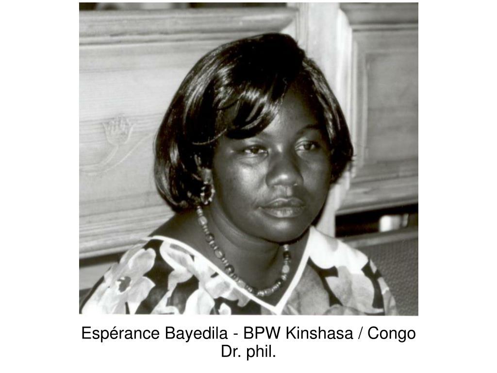 Espérance Bayedila - BPW Kinshasa / Congo