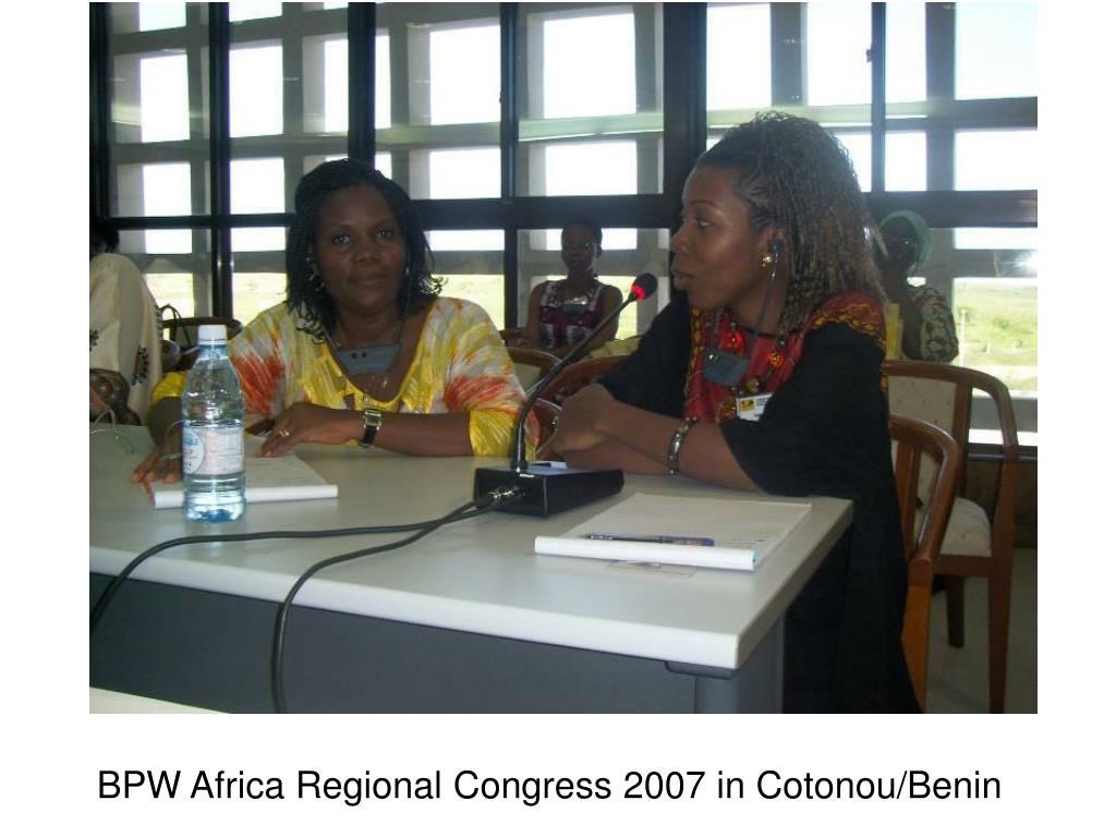 BPW Africa Regional Congress 2007 in Cotonou/Benin