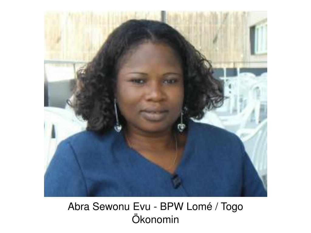 Abra Sewonu Evu - BPW Lomé / Togo