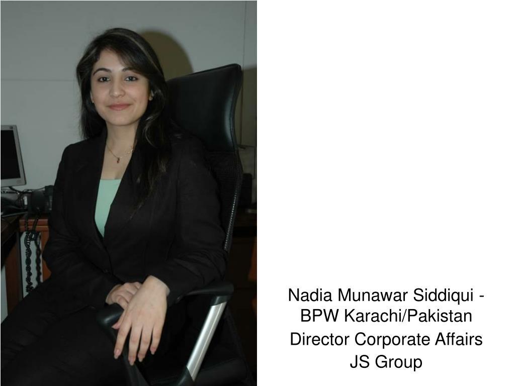 Nadia Munawar Siddiqui - BPW Karachi/Pakistan