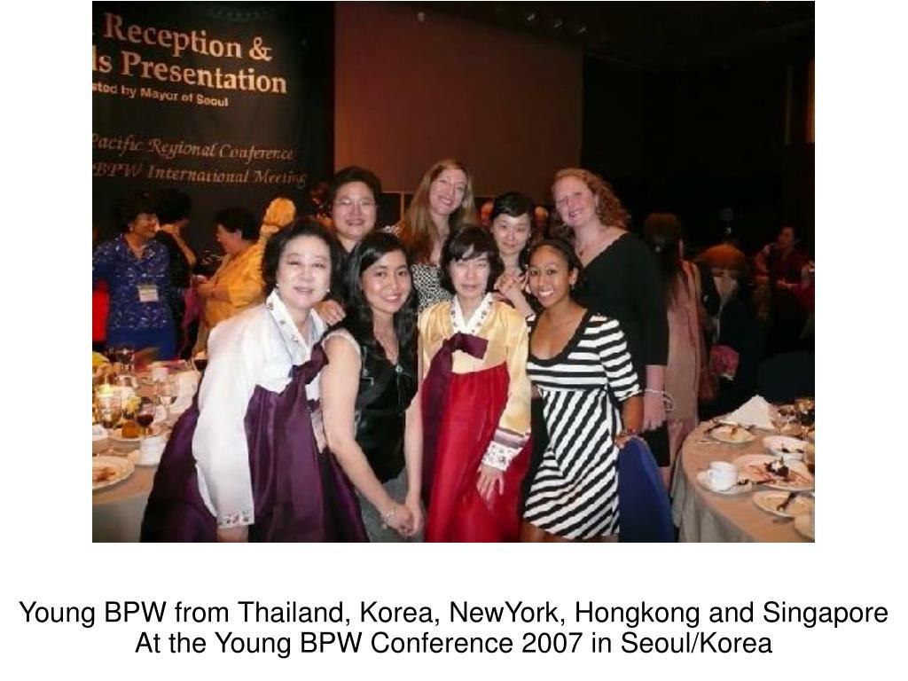 Young BPW from Thailand, Korea, NewYork, Hongkong and Singapore