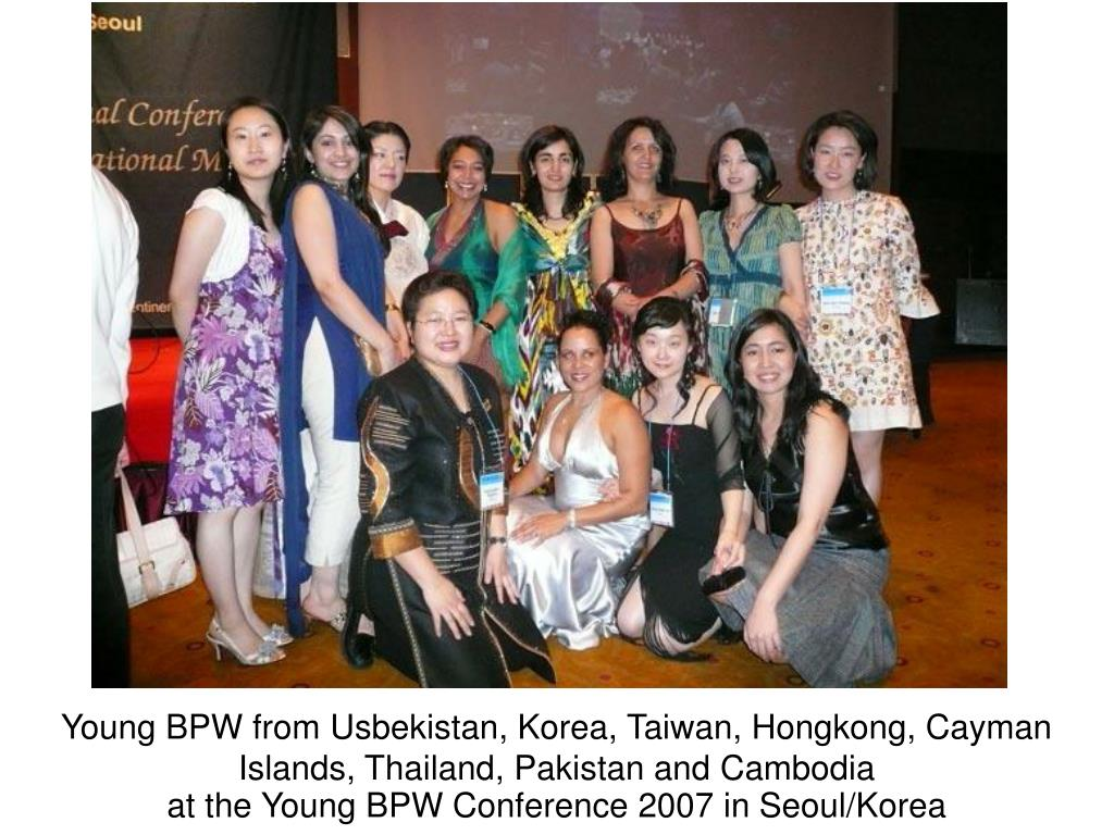 Young BPW from Usbekistan, Korea, Taiwan, Hongkong, Cayman Islands, Thailand, Pakistan and Cambodia