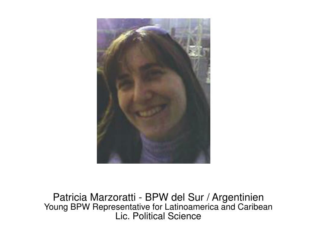 Patricia Marzoratti - BPW del Sur / Argentinien