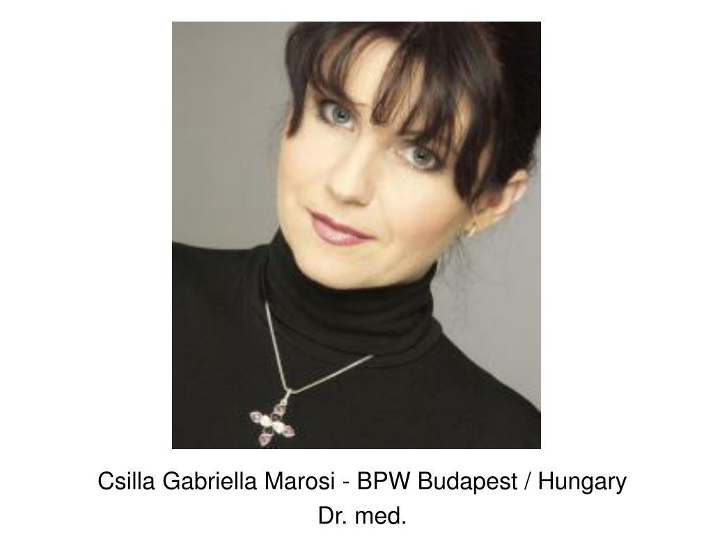 Csilla Gabriella Marosi - BPW Budapest / Hungary
