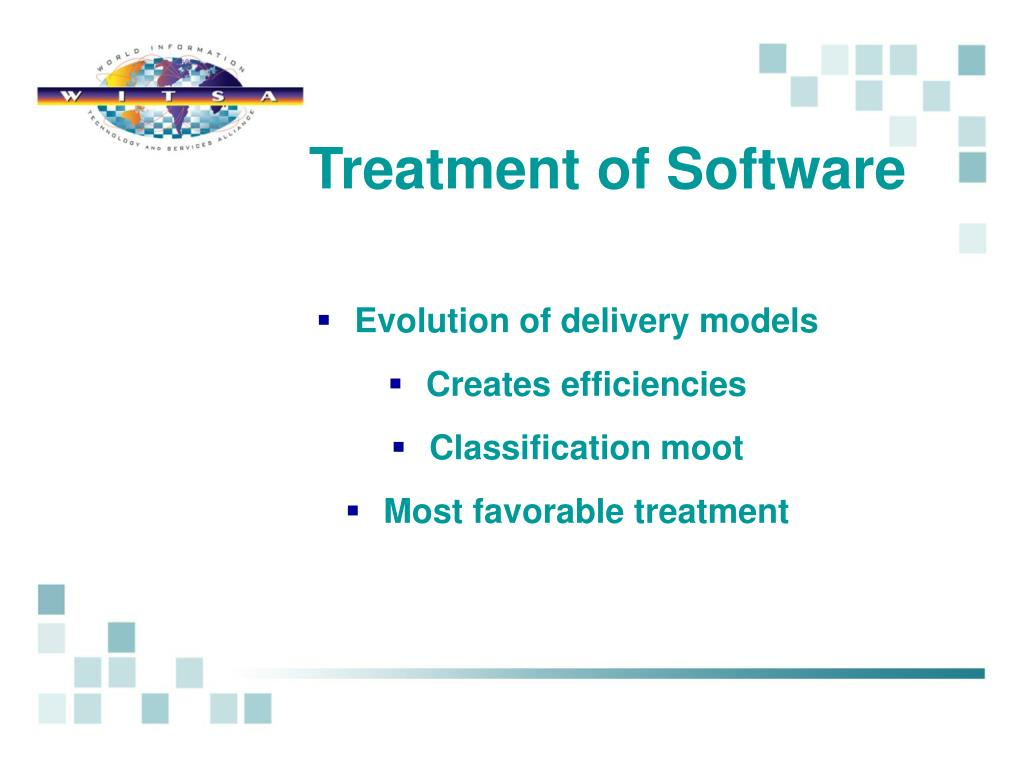 Treatment of Software