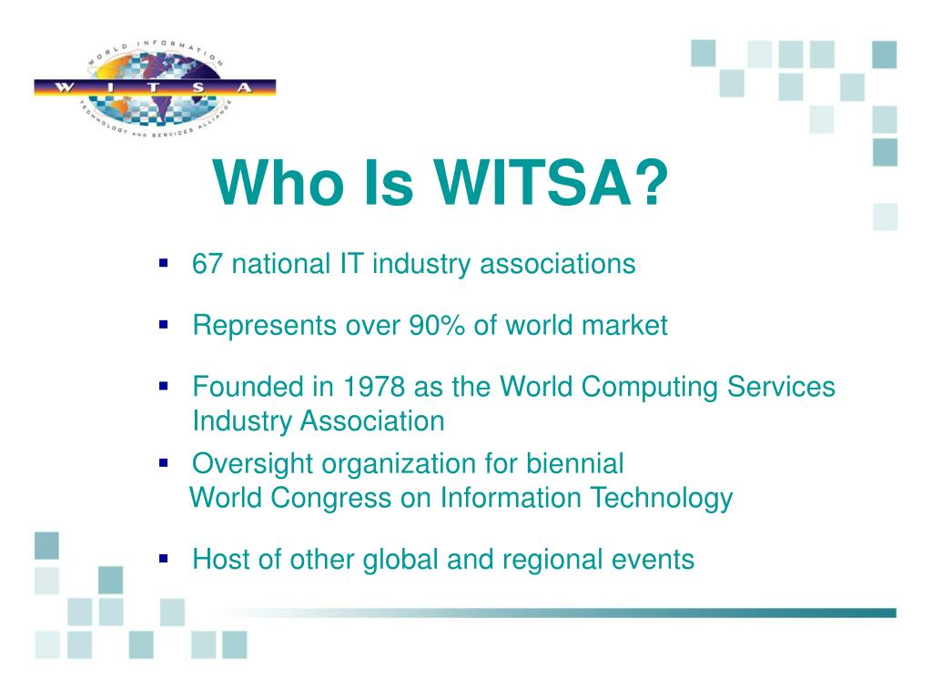 Who Is WITSA?