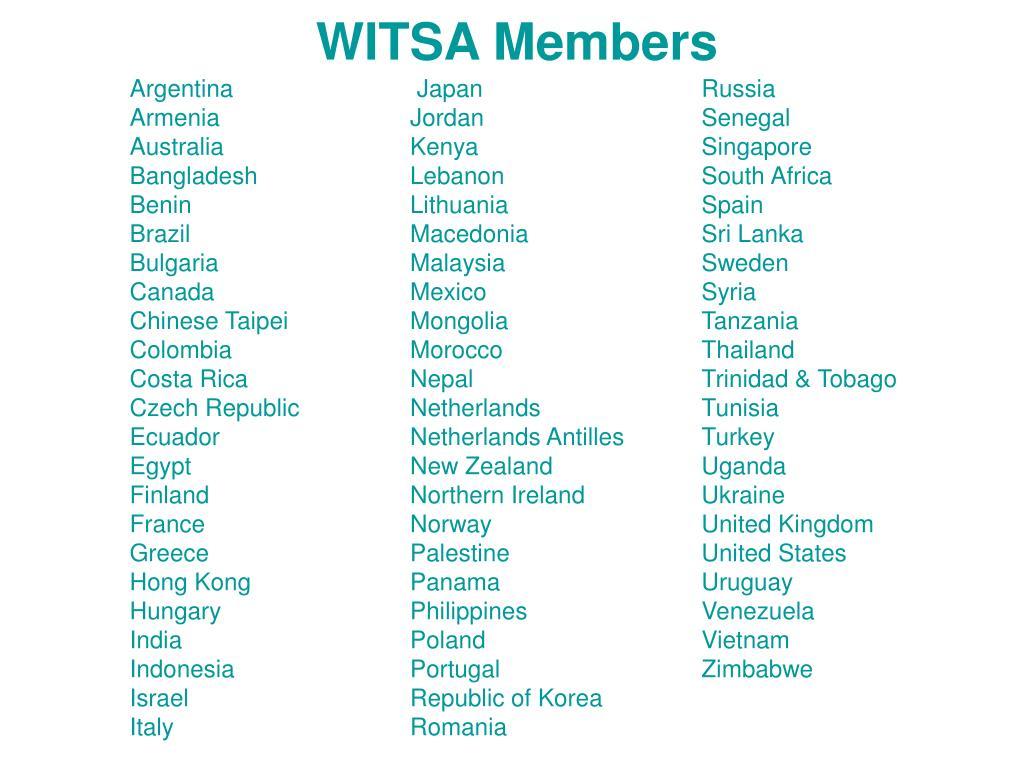 WITSA Members
