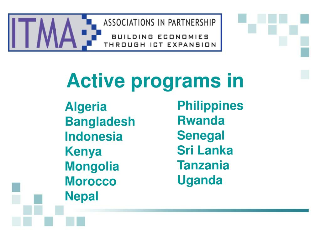 Active programs in