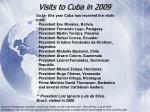 visits to cuba in 2009