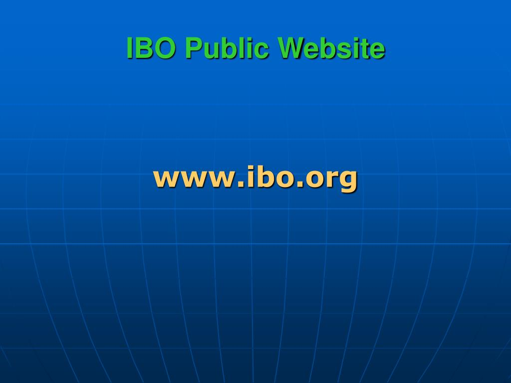IBO Public Website