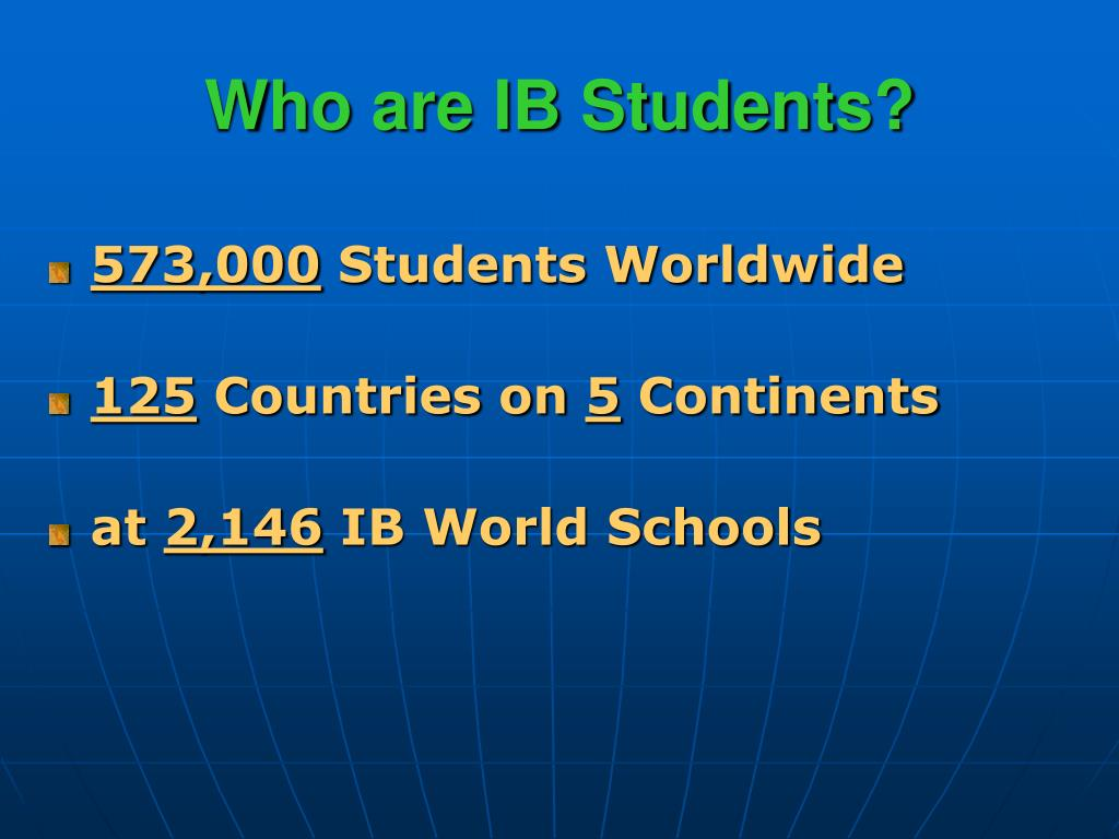 Who are IB Students?