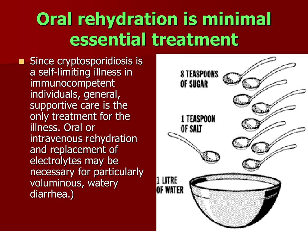 Oral rehydration is minimal essential treatment