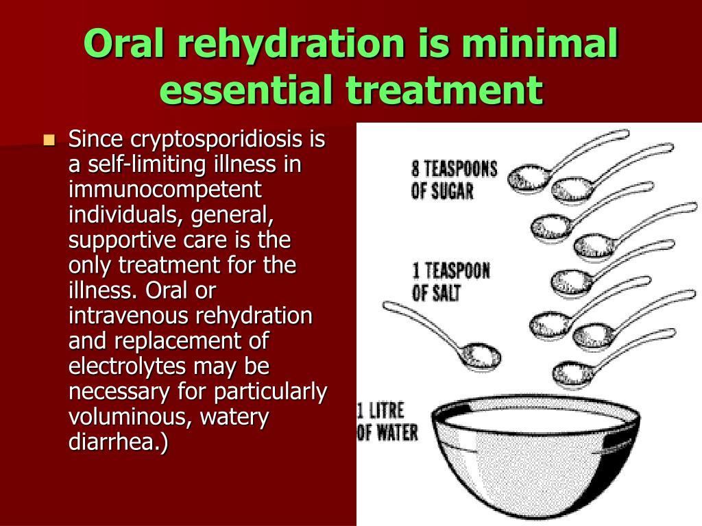 Oral rehydration is minimal essential treatment
