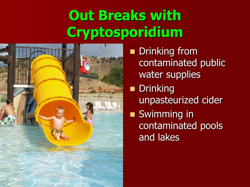 Out Breaks with Cryptosporidium