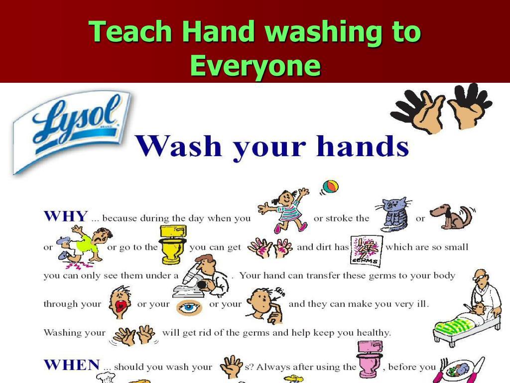 Teach Hand washing to Everyone