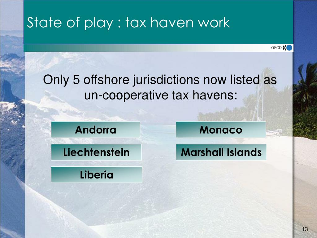 State of play : tax haven work