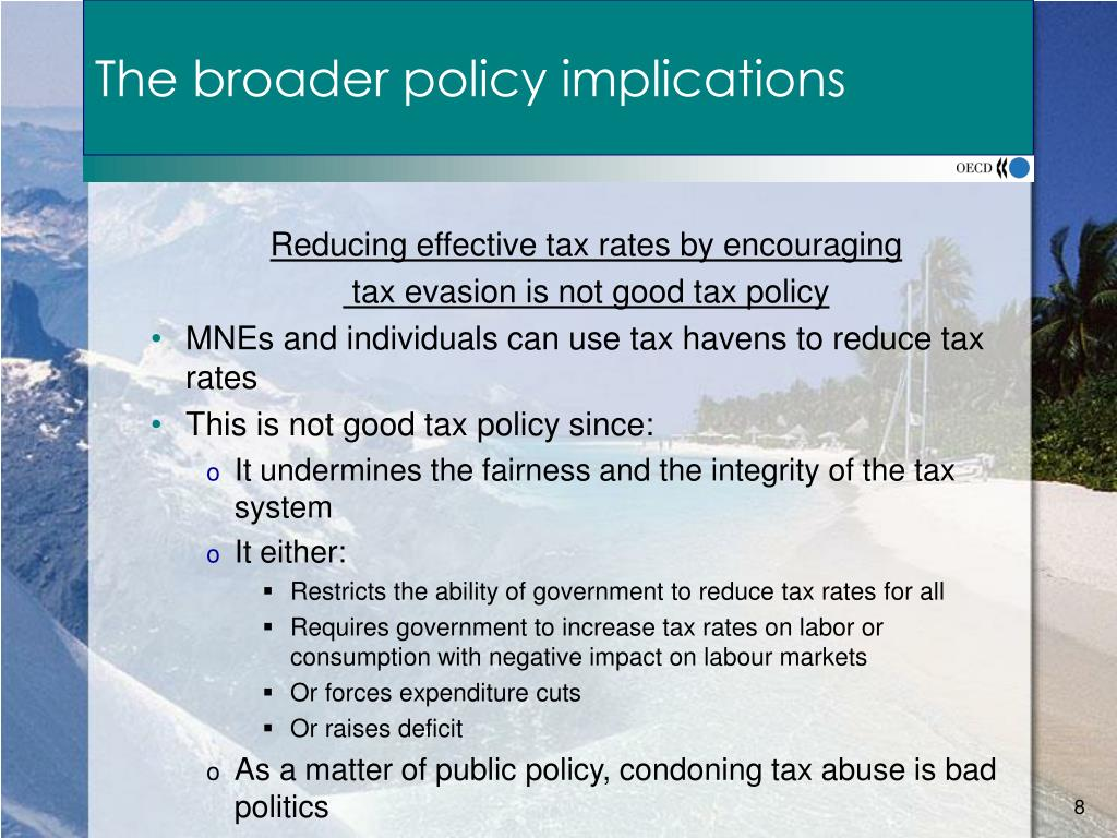 The broader policy implications