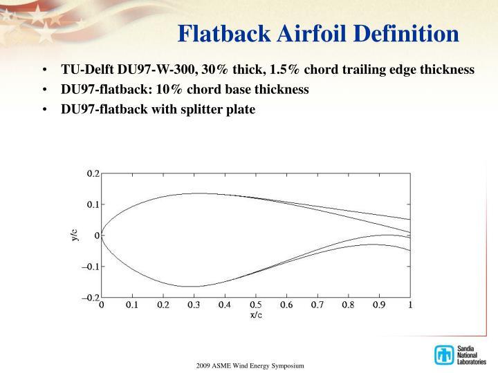 Flatback Airfoil Definition