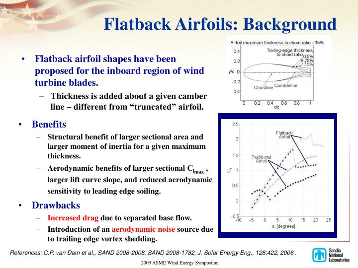 Flatback airfoils background
