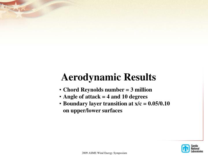 Aerodynamic Results