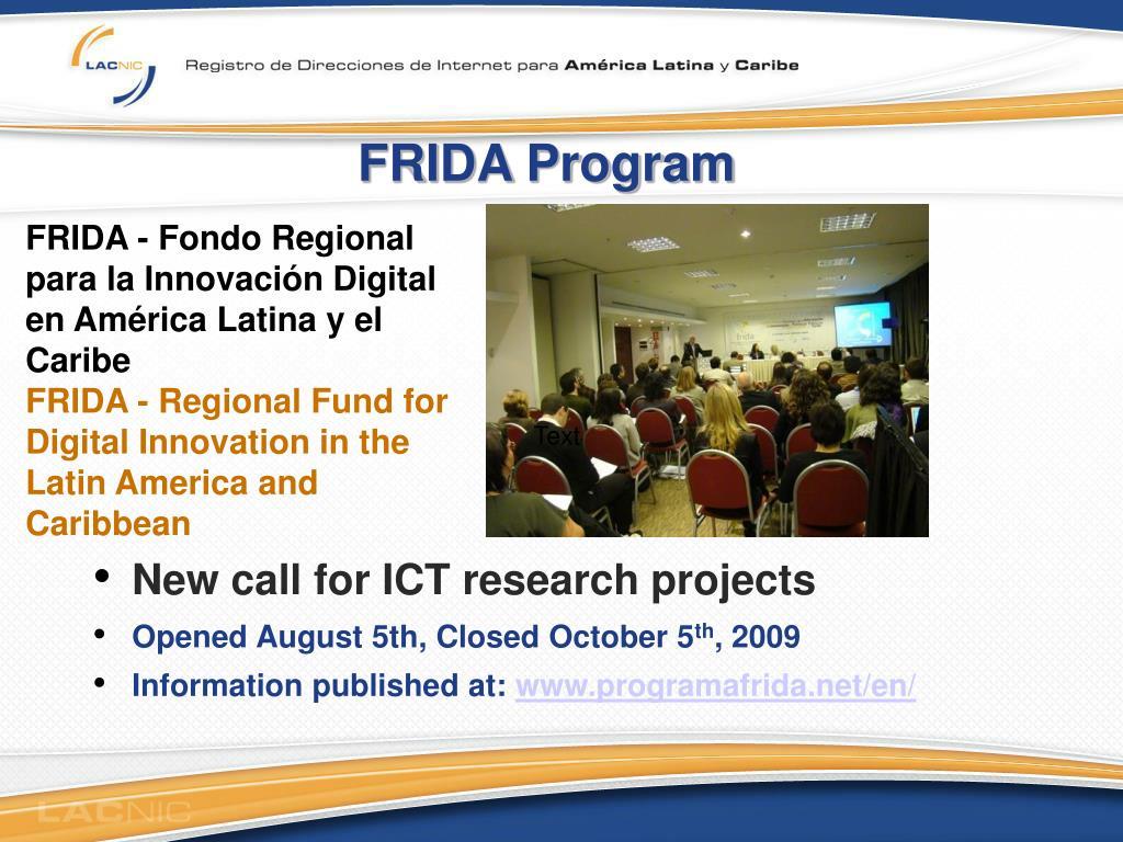 FRIDA Program