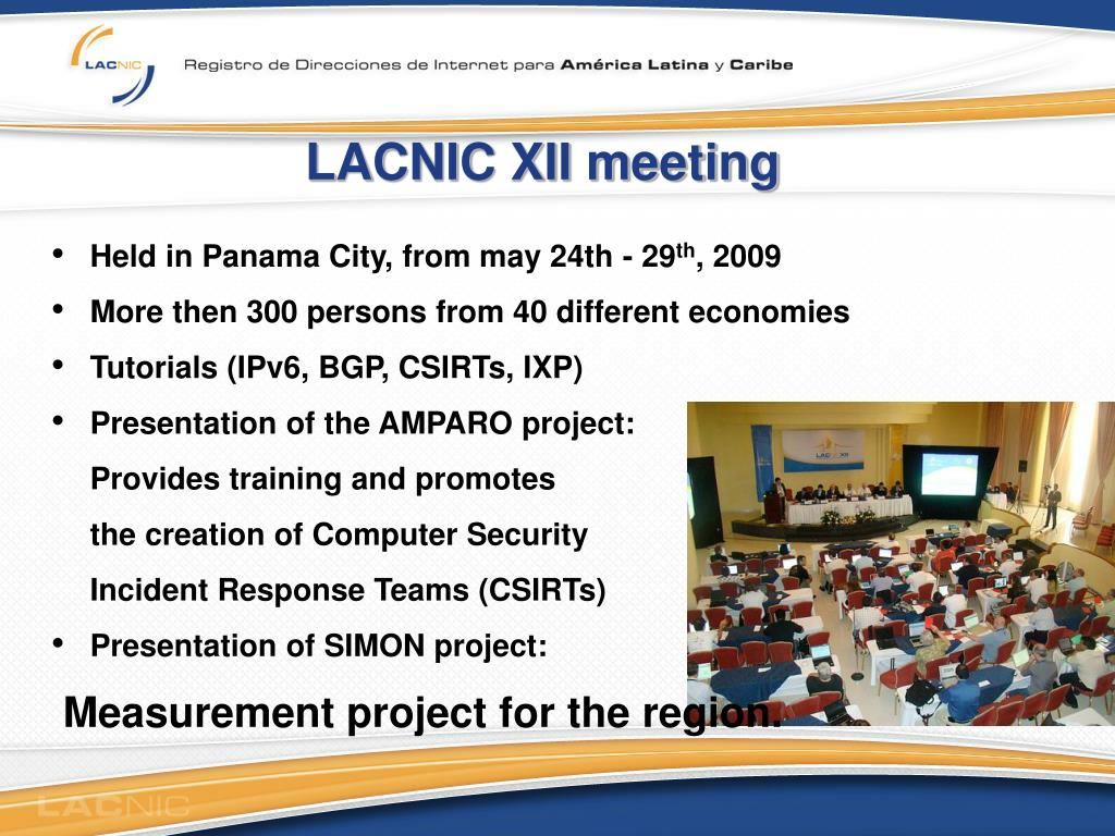 LACNIC XII meeting