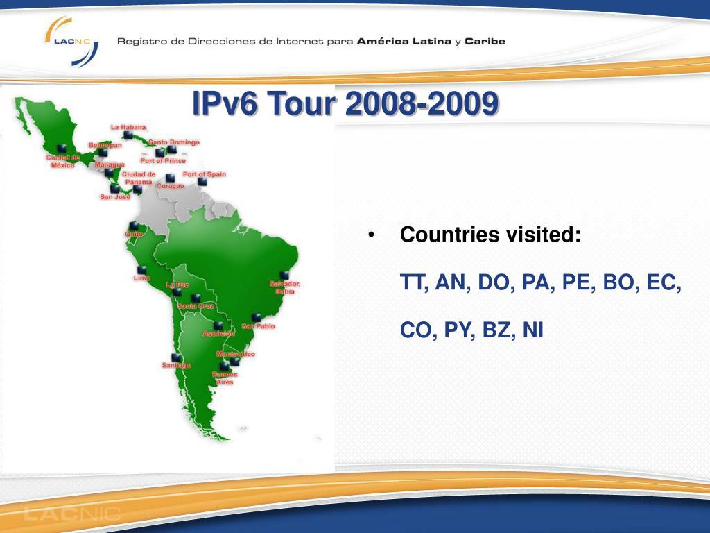 IPv6 Tour 2008-2009