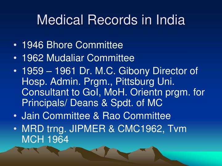 Medical Records in India