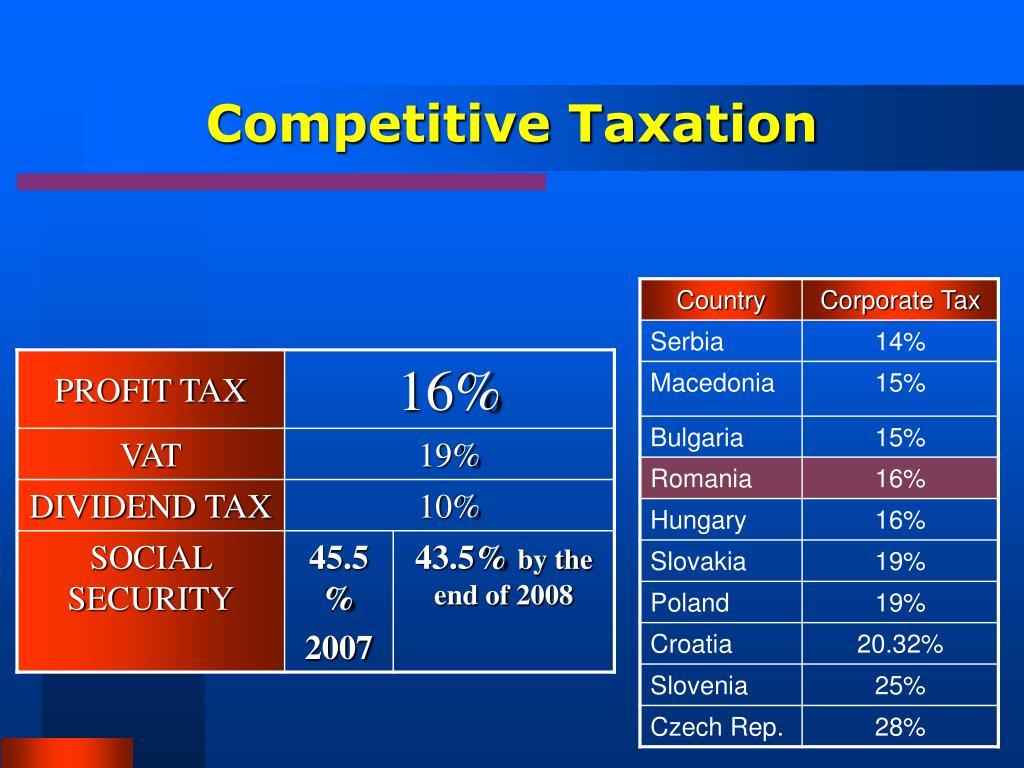 Competitive Taxation