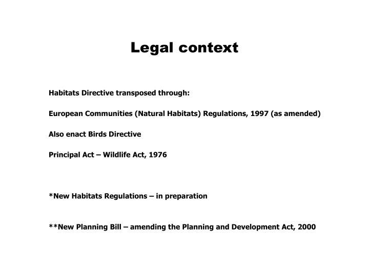 Legal context