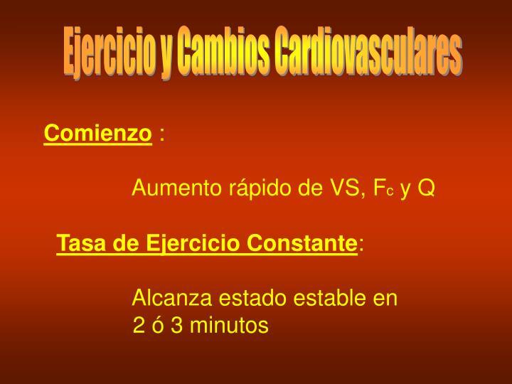 Ejercicio y Cambios Cardiovasculares