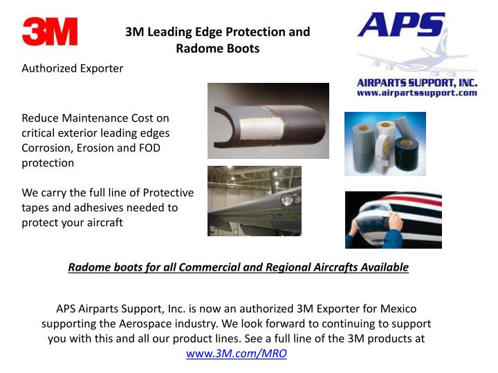 3M Leading Edge Protection and Radome Boots