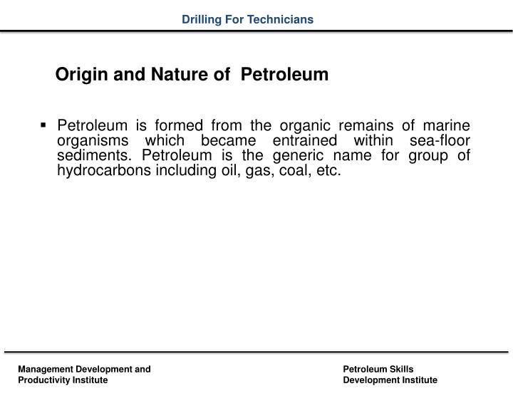 Origin and Nature of