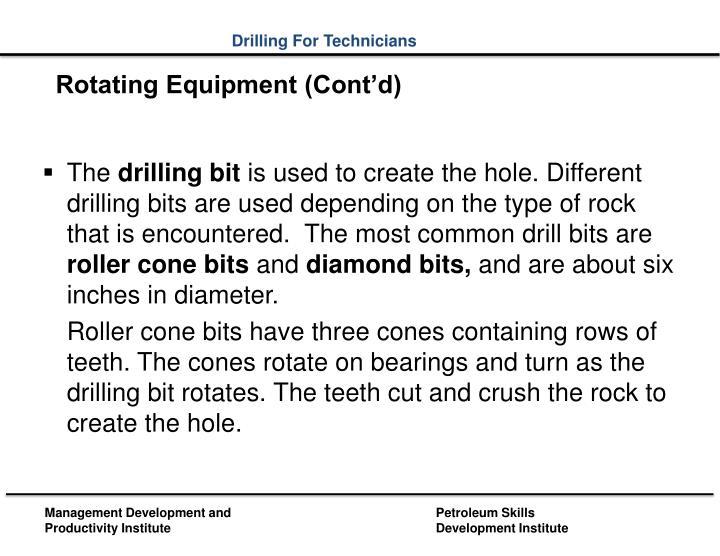 Rotating Equipment (Cont'd)